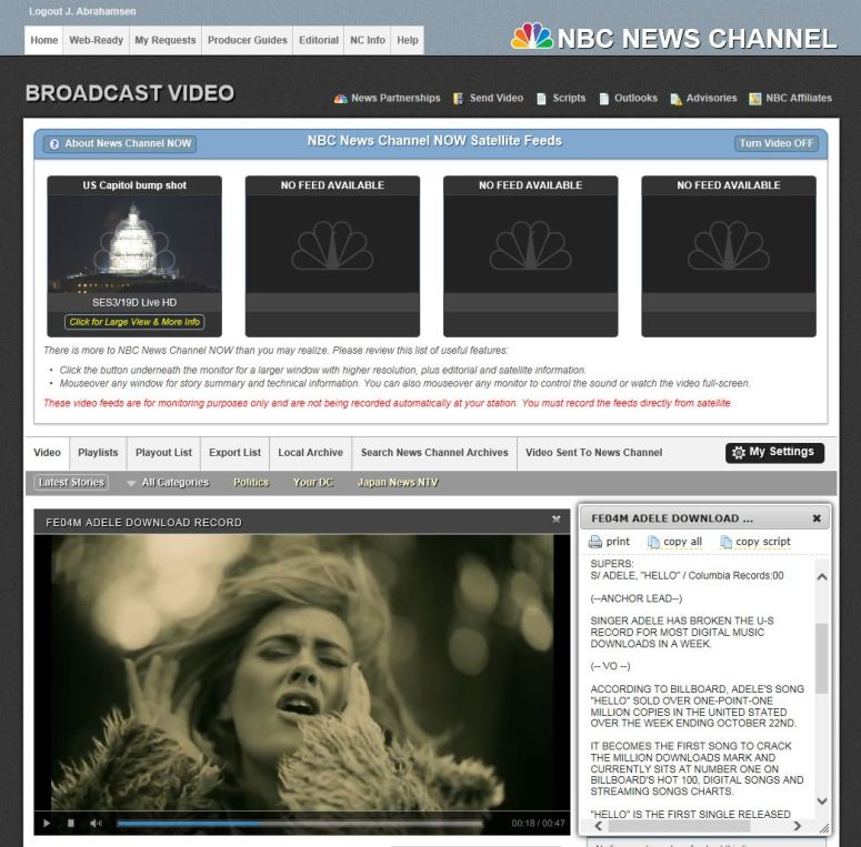 adele nbc news source