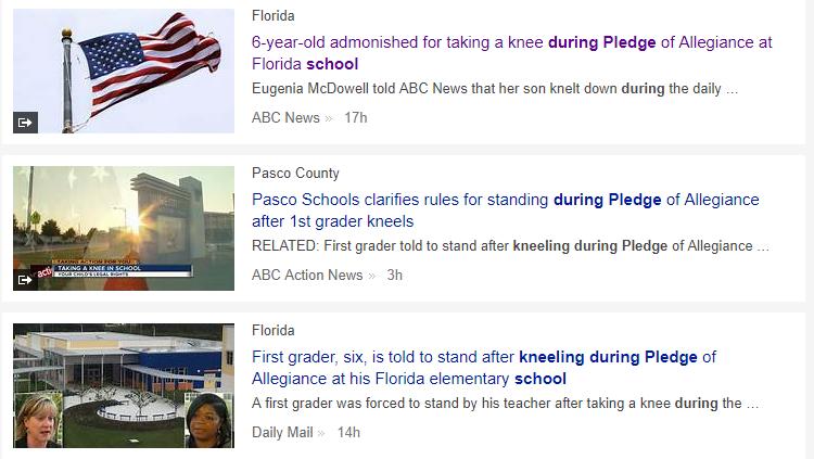 headline kneeling